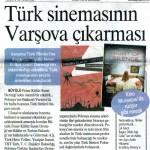Türk Sinemasının Varşova Çıkarması - Akşam, 16 Mayıs 2012
