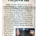 Türk Sineması Varşova'da - Cumhuriyet, 16 Mayıs 2012