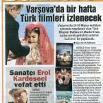 Varşova'da Bir Hafta Türk Filmleri İzlenecek - Hürriyet, 16 Mayıs 2012